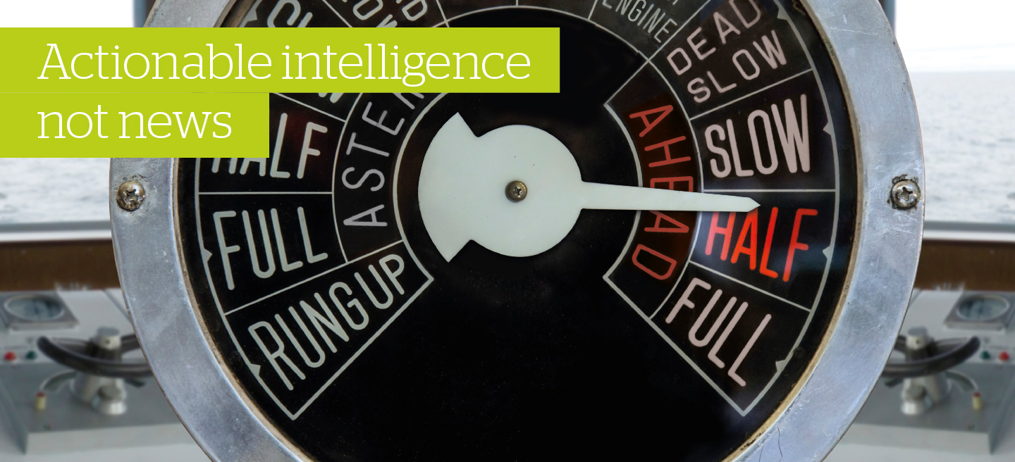 Actionable intelligence not news