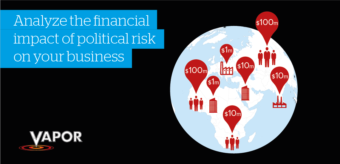 Analyze the financial impact of political risk on your business