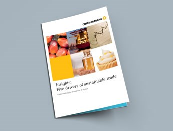 "Front page of Oxford Analytica's ""Sustainable Trade"" report"