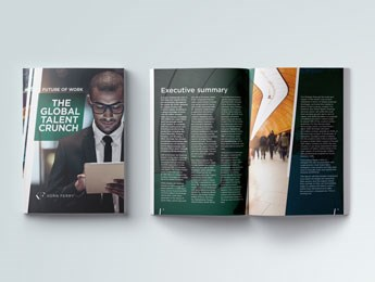 Front cover of the Korn Ferry Talent Crunch report