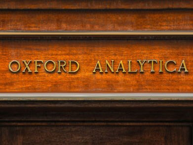 Oxford Analytica is written above our doorway